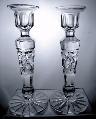 Two Webb Corbett Crystal Cut Glass Vintage Candlestick Perfect Gift c1973 Rare