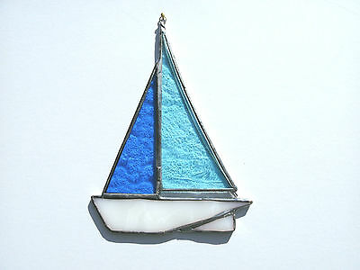 Stained Glass Sailing Boat Suncatcher 1
