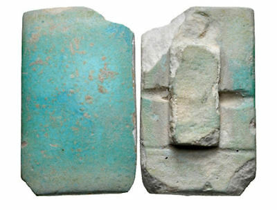 Ancient Egyptian Old Kingdom. 2686-2181, Blue Faience Tile