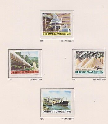 (K53-26) 1981 AU Christmas Island 4set phosphate industries part4 MUH (D)