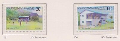 (K53-21) 1980 AU Christmas Island 2set 25 years of golf MUH