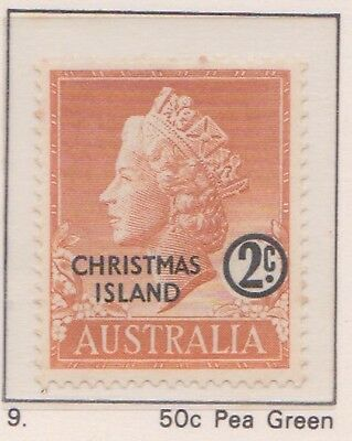 (K53-3) 1958 AU Christmas Island 2c orange QEII MUH