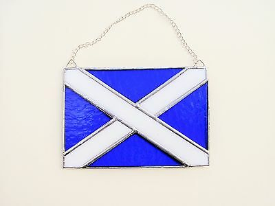 Stained Glass Saltire Suncatcher