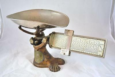 Antique Footed Pelouze Superb Computing Scale - General Store Candy - 2lb