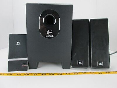 "Logitech X-240 4 Piece Speakers Set Computer Laptop 4"" Subwoofer M/N:S-0285A GS"