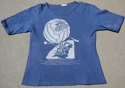 RARE VINTAGE 1970's THE WHO WHO PUT  THE BOOT IN TOUR ROCK T-SHIRT ALEX HARVEY
