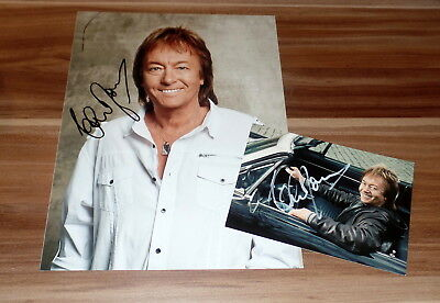Chris Norman *Smokie, Midnight Lady*, original signiertes Foto in 20x27 cm