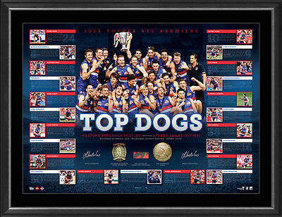 Western Bulldogs 2016 Afl Premiers Dual Signed Framed Limited Edition Print