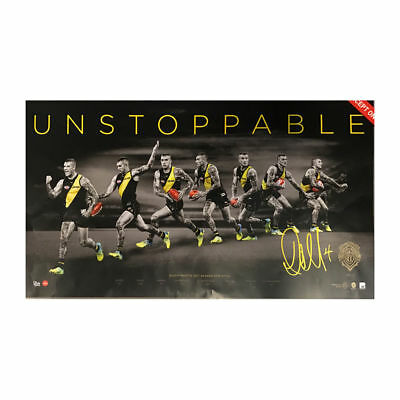 Dustin Martin 2017 Afl Brownlow Medallist Unstoppable Signed Panoramic Print