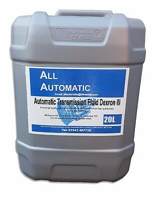 ATF DEXRON 3 20 Litre Drum – Automatic Transmission Fluid/Oil DXIII - Made in UK