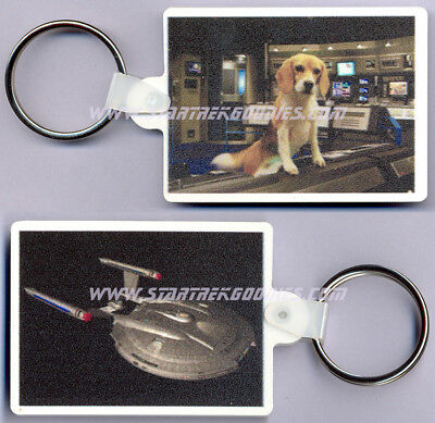 Star Trek: Enterprise KEYRING - ARCHERS Pet Beagle PORTHOS and NX-01 MINT!