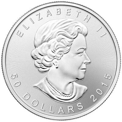 1 oz Platinum Canadian Maple Leaf - 2015