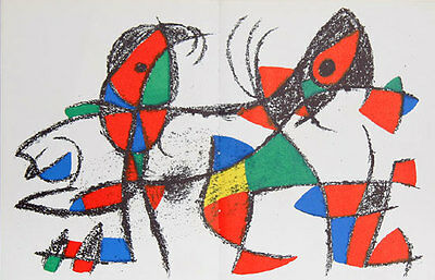 Joan Miro Lithographs Volume 2 - Original Lithograph X (M.1046)