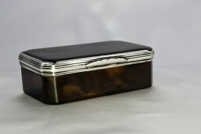 Rare Antique Georgian Early 19th Century Silver Faux Tortoiseshell Snuff Box
