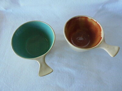 A Pair of  Vintage Collectable Dyson Studio Ramekin Bowls Signed Retro