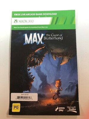 Max The Curse Of Brotherhood Xbox Live Game Download Code Card Xbox 360