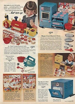 1965 Xmas cat pg Jr Chef Cookie Factory Easy Bake Oven Doll House Mobile Home