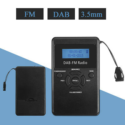 FM Radio Portable Audio Broadcasting Digital DAB Receiver Headphone Rechargeable