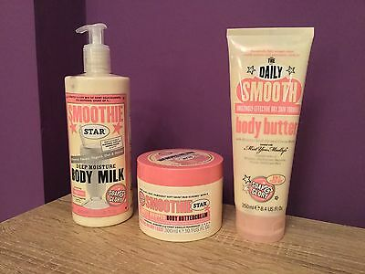 Soap & Glory Smoothie Star Body Milk, Buttercream, Daily Smooth. Moisturisers.