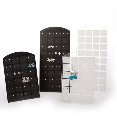 72 Holes Earring Jewelry Showcase Plastic Stand Holder Organizer Display Rack