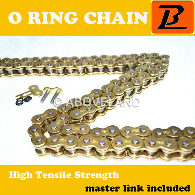 530H-O-120 links O ring Gold Motorcycle Drive Chain Honda Yamaha Suzuki Kawasaki