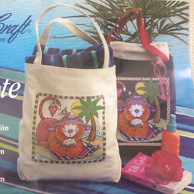 Large Tote Cotton Aida 14 Count Cross Stitch Charles Craft Made in USA w/design