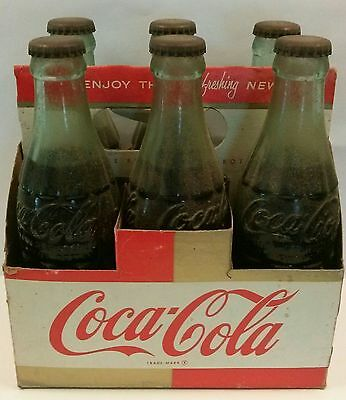 Authentic Vintage 1950s / 1960s era Coca-Cola six pack