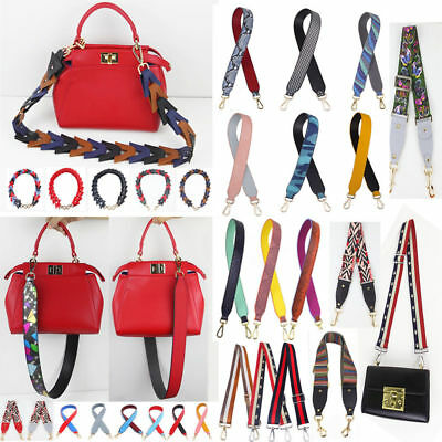 Wide Snake Printed PU Leather Replacement Bag Strap Women Handbag Accessories C8
