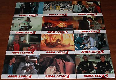 Mel Gibson Lethal Weapon 3 Spanish lobby card set Danny Glover Rene Russo