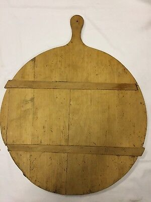Early Primitive Large Round Bread or Dough Board