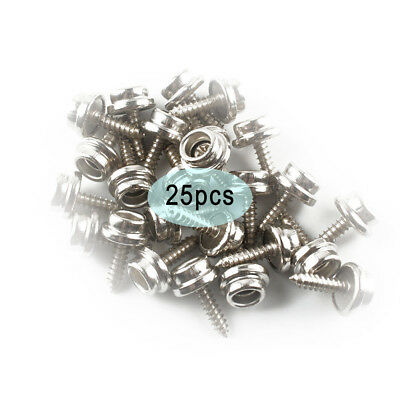 "Snap Button Screw-In Studs Boat Covers Tarps 5/8"" Stainless Steel New 25Pcs"