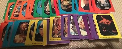 Return of the Jedi Topps Stickers over 50 Complete Set 1-33 Variations included