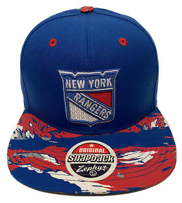 newest 6bf7b 23bdd low price spain zephyr nhl new york rangers tiger camo flat bill snapback  hat. d2b50