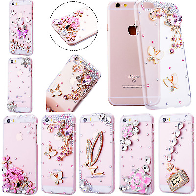 Cute New Bling Glitter Case Crystal Clear Slim Diamond PC Cover for Girls Women