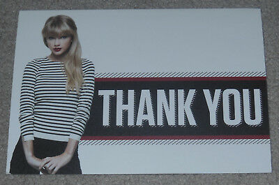 Taylor Swift Thank You Card - RARE ACM - Not Reputation CD or Tour