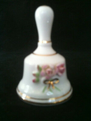 "STAFFORDSHIRE ROYALE MADE IN ENGLAND ROSE MOTIF BELL 2 1/4 "" = 55mm"