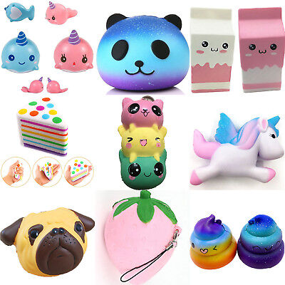 Jumbo Slow Rising Squishies Charms Unicorn Cake Squishy Squeeze Toys Collection