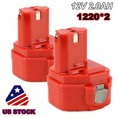 NEW 2PCS Combo Pack 12V 2.0Ah NI-CD Battery for Makita 1220 1222 1233 1234 PA12