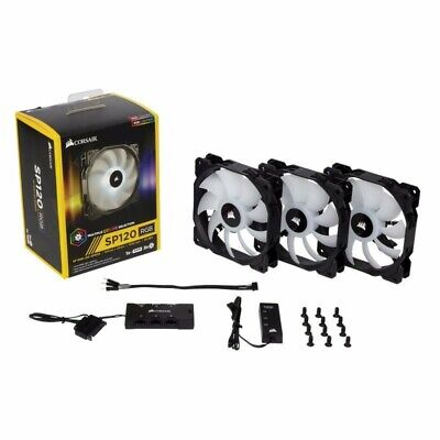 Corsair SP120 120MM High Performance RGB LED Fans - Three Pack with Controller