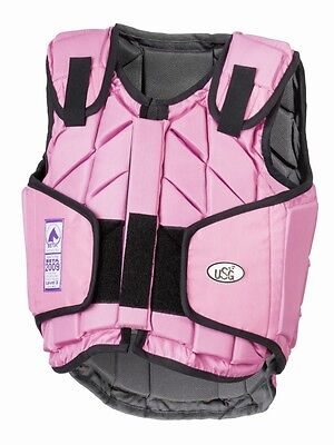 USG - eco-flexi child horse riding body protector pretty pink all sizes