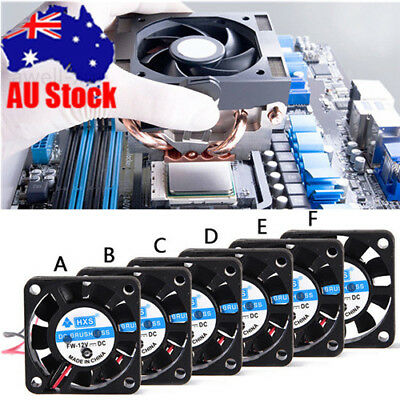 2Pin Mini 40mm-80mm DC 12V Brushless Silent Computer PC Case Cooling Cooler Fans
