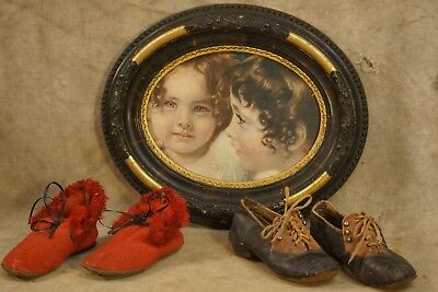 Antique Baby/Children Shoes, 19th Century to Early 20th Century, 2 Pairs,