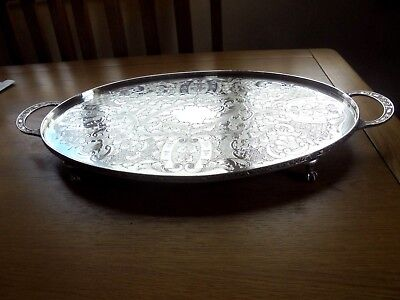 Lovely Viner's Silver Plated Oval Tray