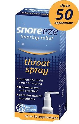 Snoreeze Snoring Relief Throat Spray 23.5ml up to 50 applications