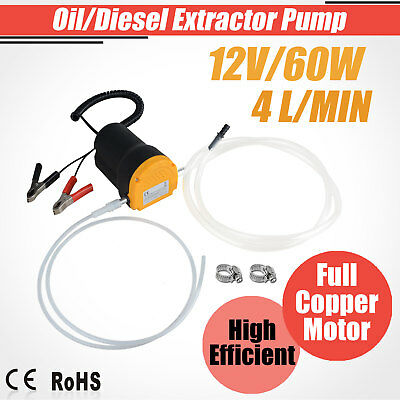 12V Oil Diesel Extractor Suction Pump Engine Fluid Transfer Change Car Boat 60W