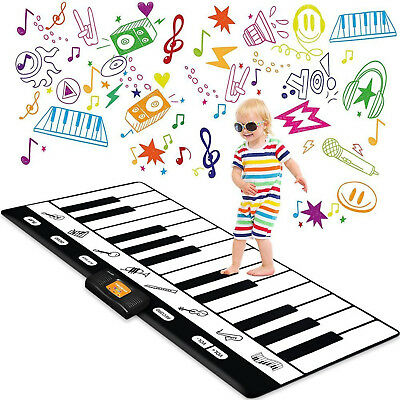 Toy Piano Keyboard Play Mat Musical Toys For Kids Birthday Gifts Christmas Gift