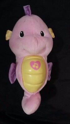 Soothe And Glow Seahorse- -Fisher Price Pink Baby