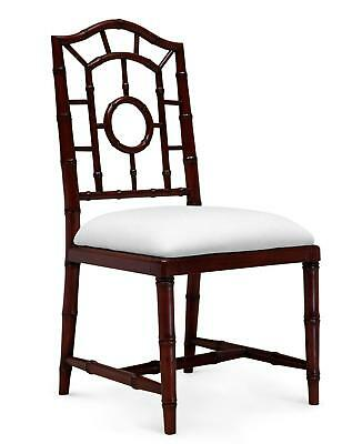 Bungalow 5 Chloe Traditional Walnut Lacquered Mahogany Side Chair Set of 2