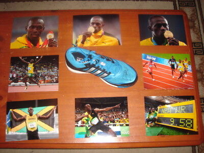 Usain Bolt signed Sneaker - Olympic Gold Medallist and World Record Holder