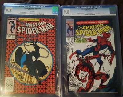 amazing spiderman 300 & 361 cgc 9.8